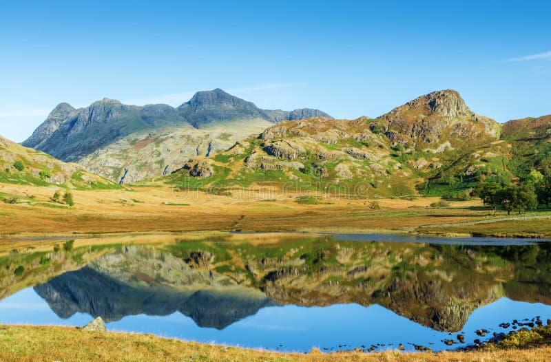 Blea distrito inglés del Tarn, lago, Cumbria imagenes de archivo