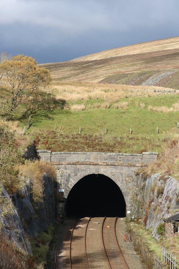 Blea legt het zuidenportaal vast van de spoorwegtunnel royalty-vrije stock foto