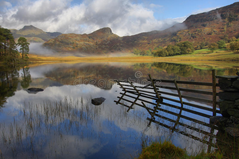 Blea Tarn. In the Langdales, Lake District, Cumbria, UK royalty free stock photography