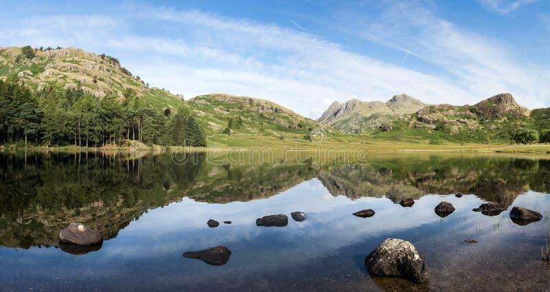 Blea Tarn, Langdale, Angielski Jeziorny Districy obrazy royalty free
