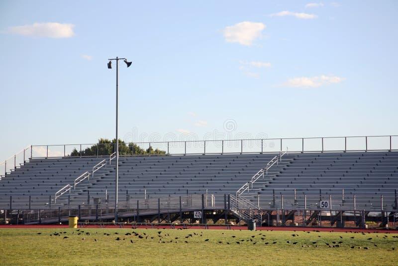 Bleachers 2 do estádio fotografia de stock