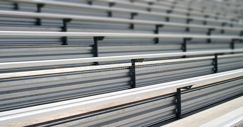 Bleachers. In a stadium or school for the fans stock photos