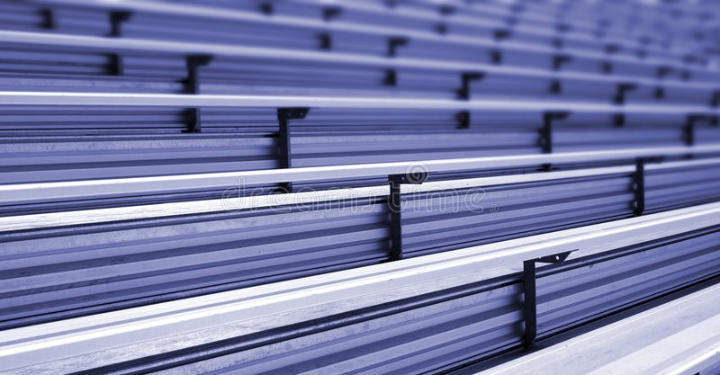 Bleachers. In a stadium or school for the fans royalty free stock photo