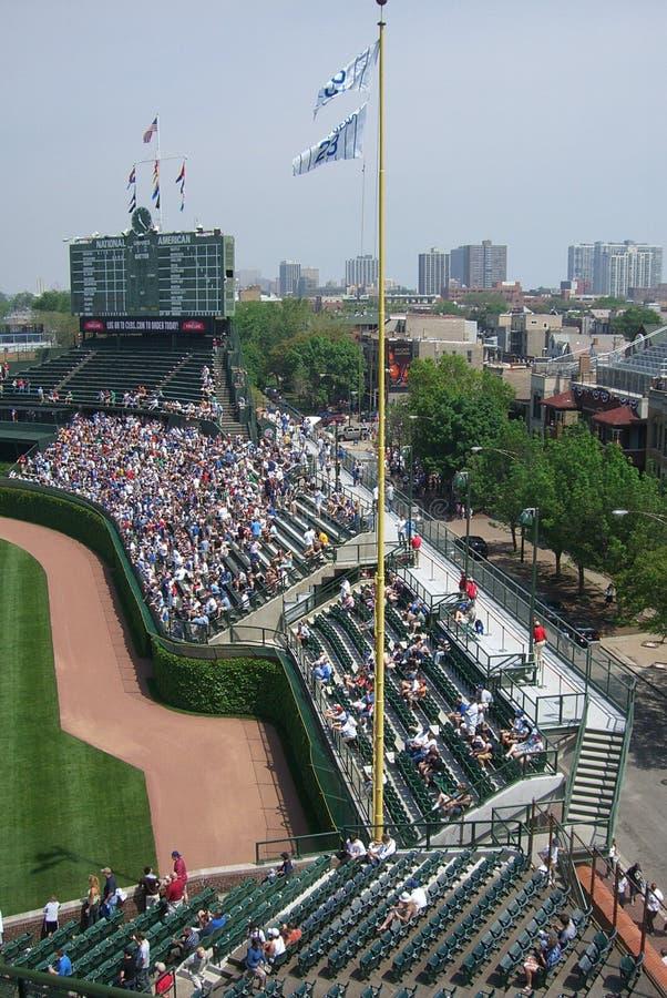 bleachers chicago field ivy wrigley στοκ φωτογραφία με δικαίωμα ελεύθερης χρήσης