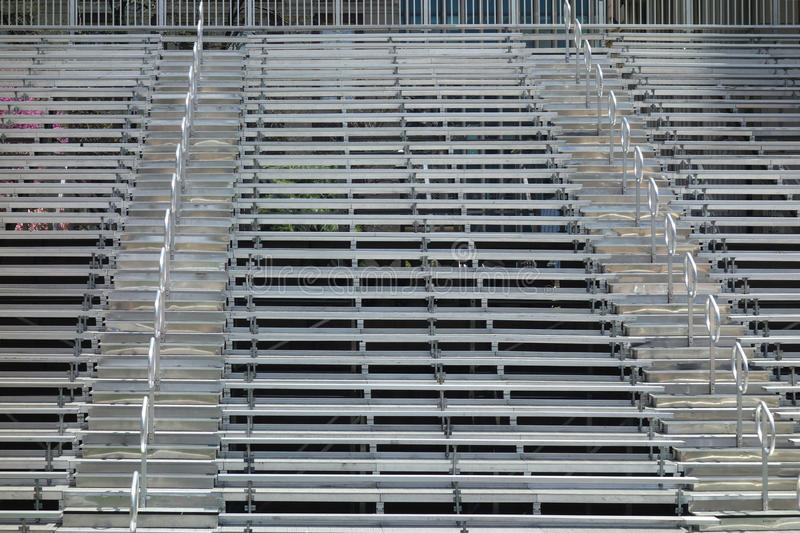 Bleachers. Empty bleachers. Can be used as a background stock photography