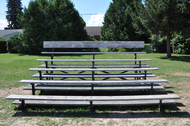 Bleachers. Front view of bleachers in a sunny day royalty free stock photos