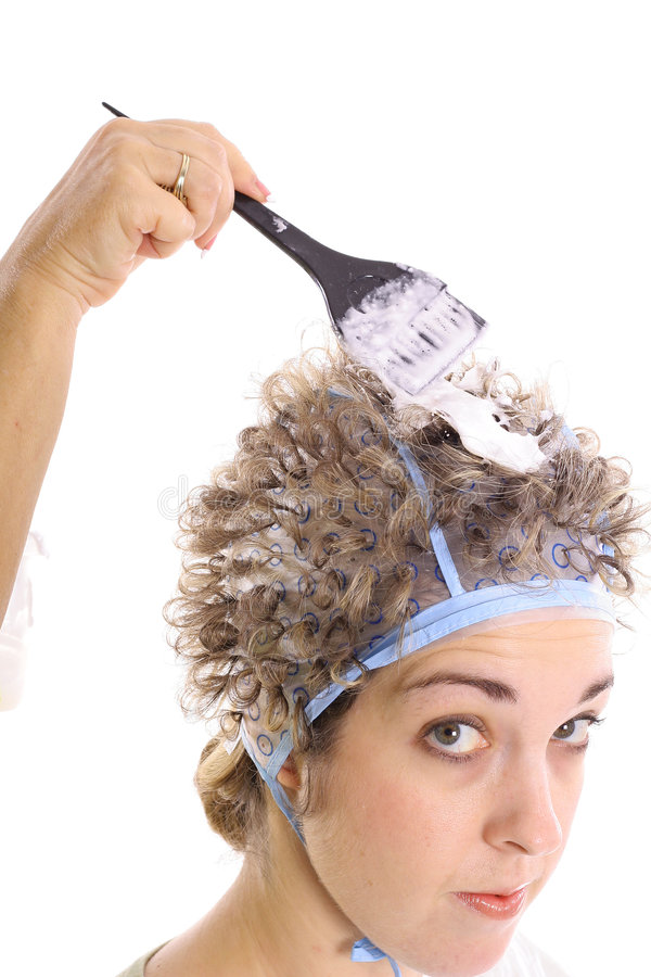 Free Bleaching Hair With Bleach Upclose Stock Photo - 3770780