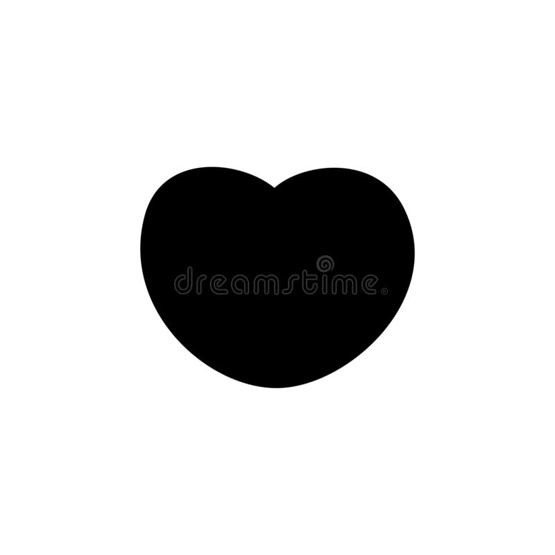 Bleck heart icon, love icon vector illustration. Red heart logo vector vector illustration