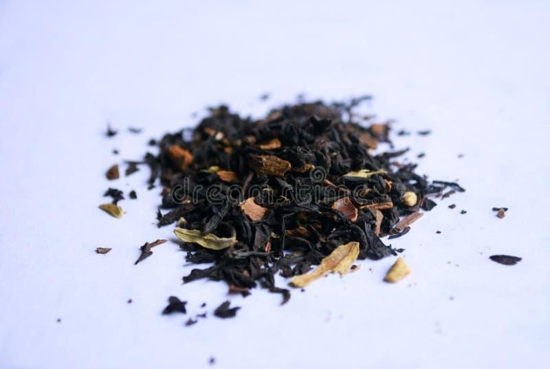 Bleck herbata z kwiatów płatkami obrazy royalty free