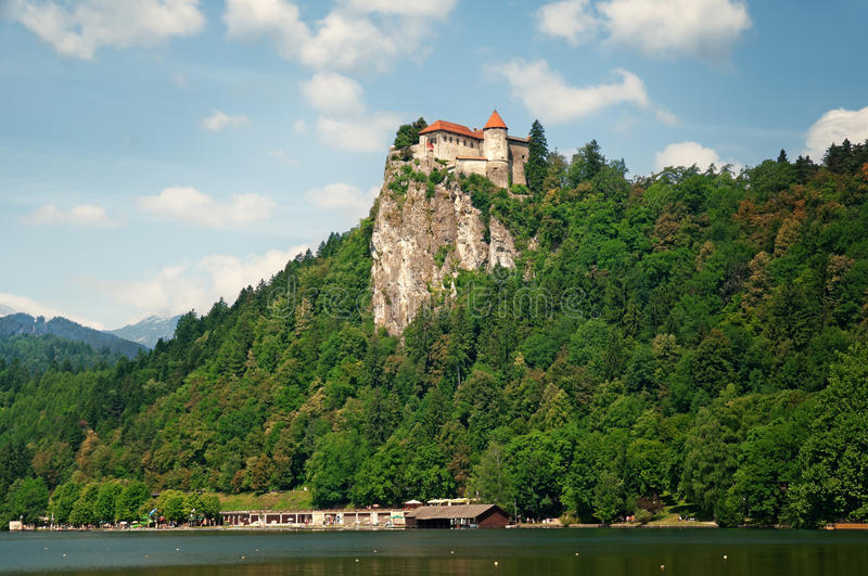 Bled Caste, Slovenia royalty free stock images