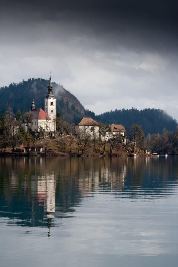 Download Bled lake stock image. Image of castle, landscape, cloud - 18855565