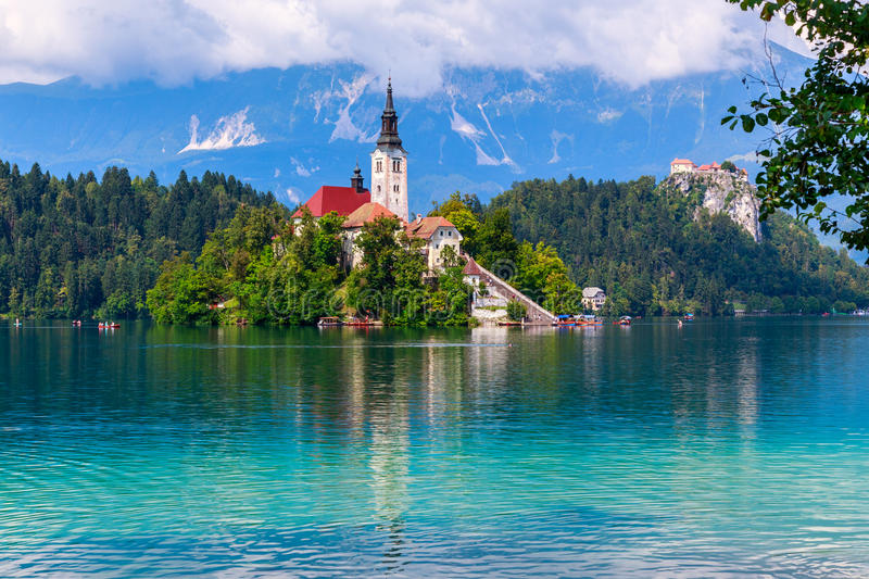 Bled with lake royalty free stock photography