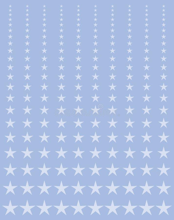 blednąć gwiazdy ilustracja wektor
