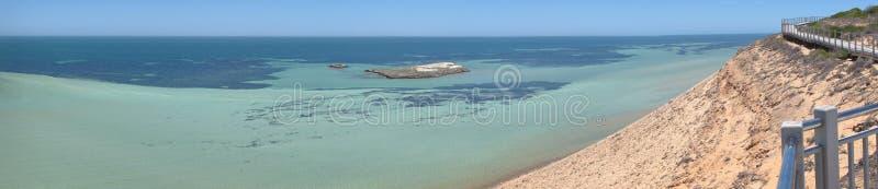 Blefe de Eagle, baía do tubarão, Austrália Ocidental fotografia de stock