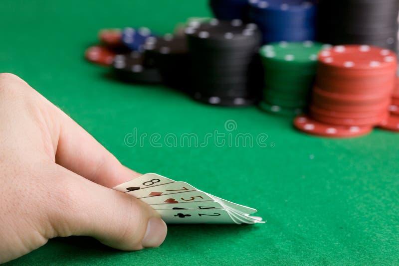 Blefe do póquer fotografia de stock royalty free