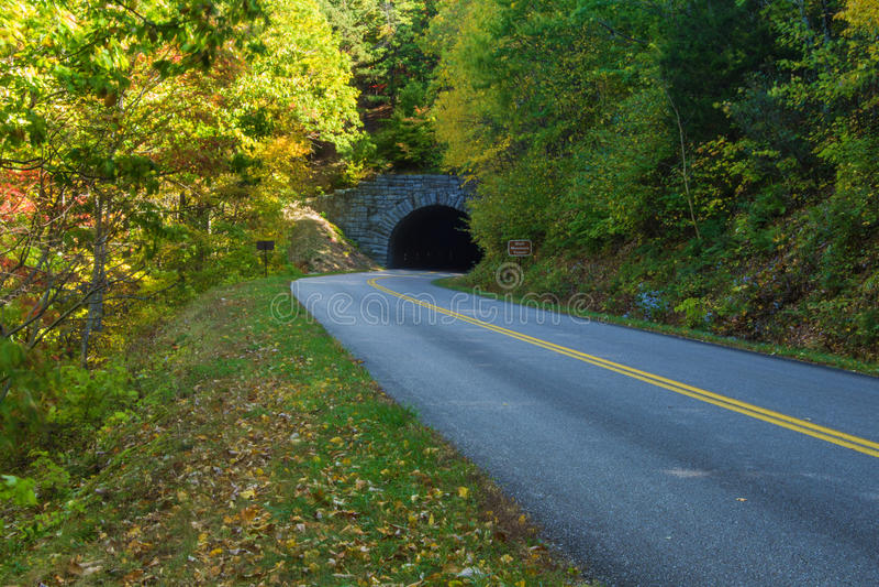 Blefu Halny tunel, Virginia, usa obraz stock