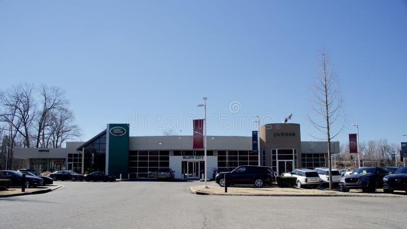 Blefu miasto Jaguar Land Rover, Memphis, TN zdjęcia royalty free