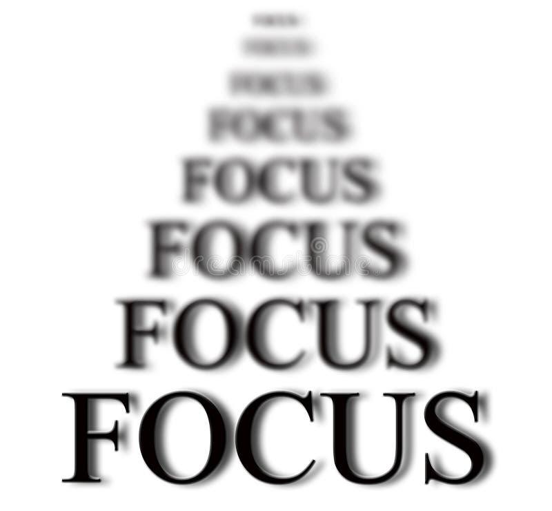 Bleiben im Fokus stock abbildung