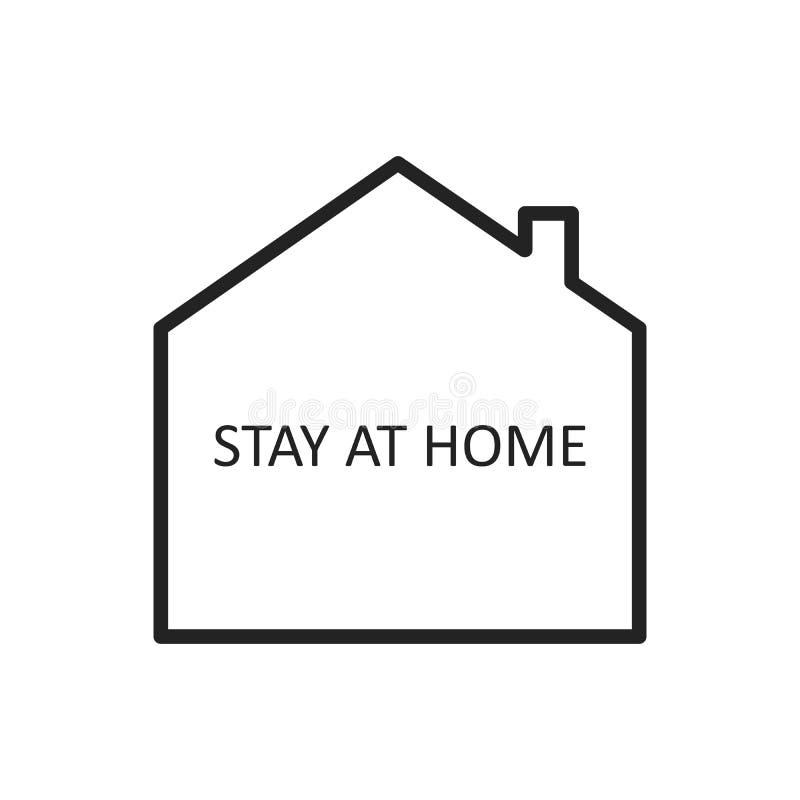 Bleiben Sie zu Hause Vector Icon Einfaches Vector-Sign mit Haus isoliert auf einem weißen Hintergrund Kampagne 'Aufenthalt zu Hau vektor abbildung