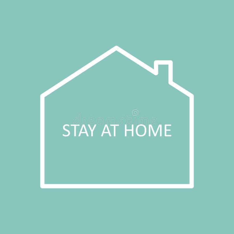 Bleiben Sie zu Hause Vector Icon Einfaches Vector-Sign mit Haus isoliert auf einem weißen Hintergrund Kampagne 'Aufenthalt zu Hau lizenzfreie abbildung