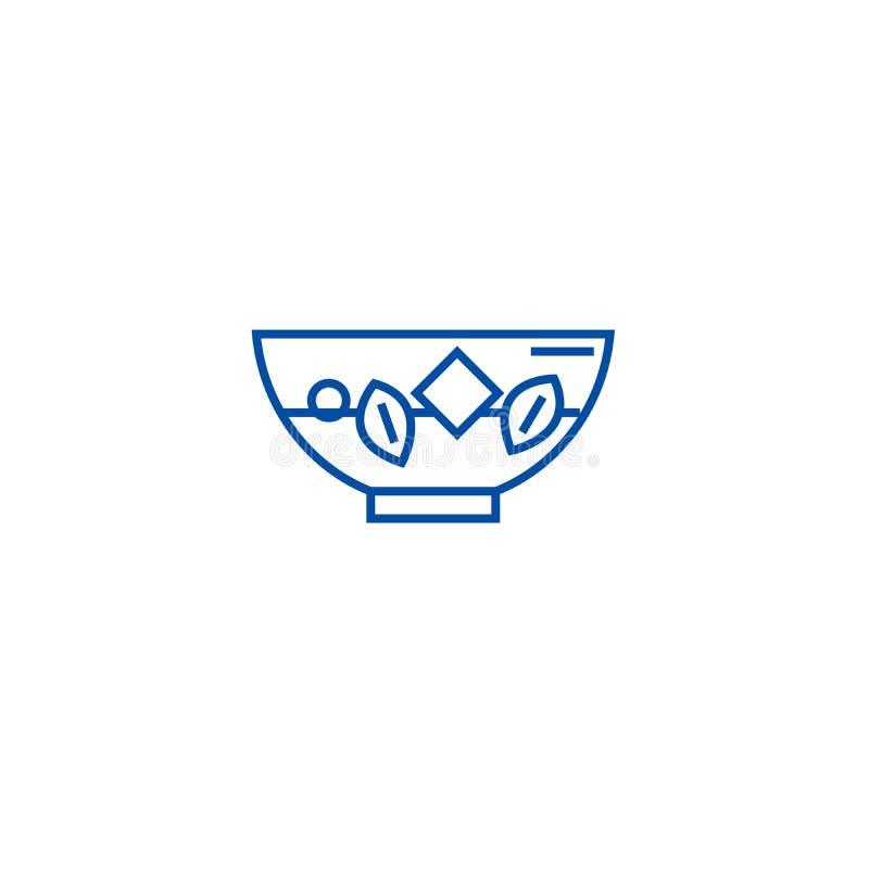 Bleichendes Gemüse zeichnet Ikonenkonzept Bleichendes flaches Vektorsymbol des Gemüses, Zeichen, Entwurfsillustration lizenzfreie abbildung