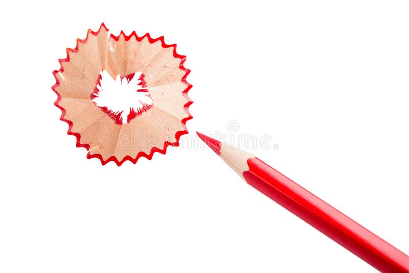 Bleistift der roten Farbe stockfotografie