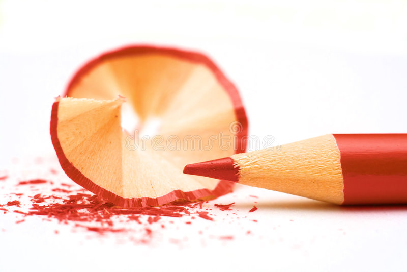 Bleistift der roten Farbe lizenzfreies stockbild