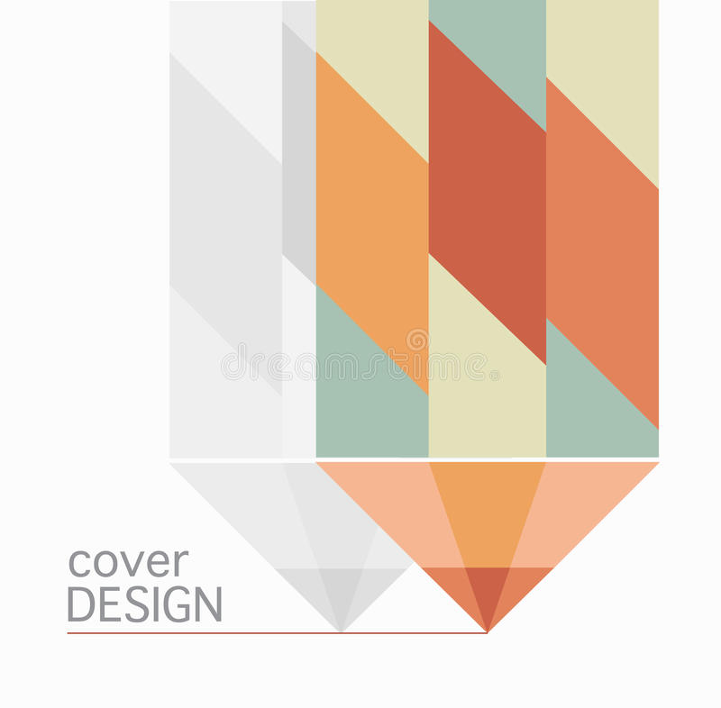 Bleistift-Designvektor des Bucheinband-Jahresberichts bunter stock abbildung