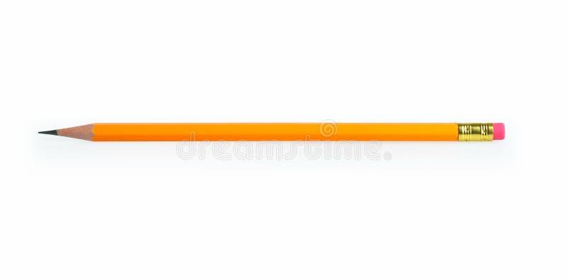 Bleistift lokalisiert auf Weiß stockbild