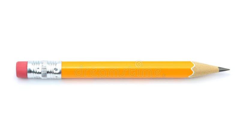 Bleistift lokalisiert auf weißem Hintergrund lizenzfreie stockbilder