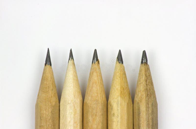 Bleistift mit dem Schärfen auf Weißbuchhintergrund lizenzfreie stockfotografie