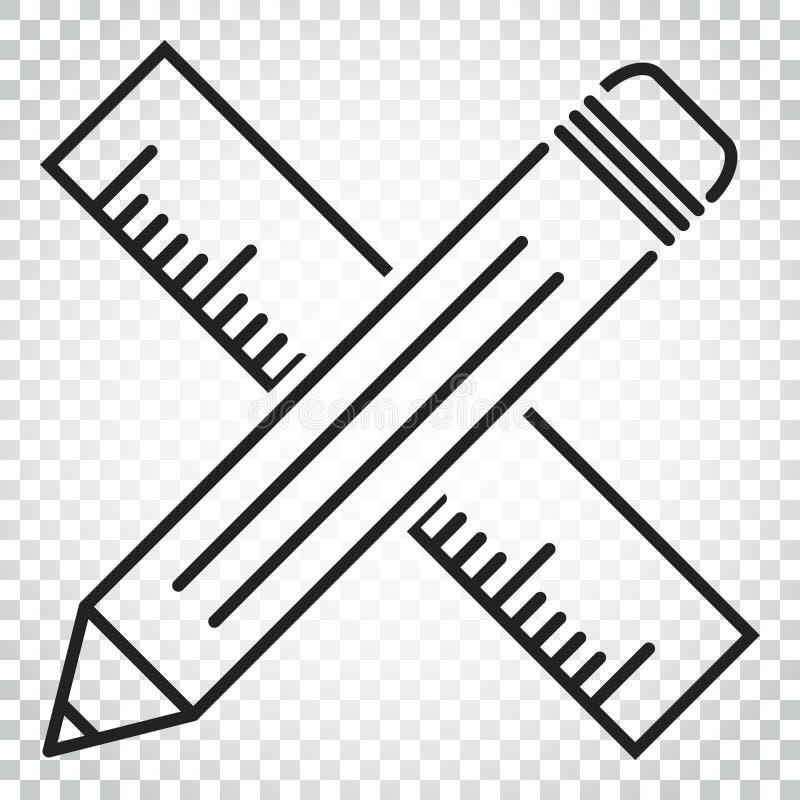Download Bleistift Mit Machthaberikone Machthabermeter-Vektorillustration Einfach Vektor Abbildung - Illustration von schwarzes, getrennt: 96935985