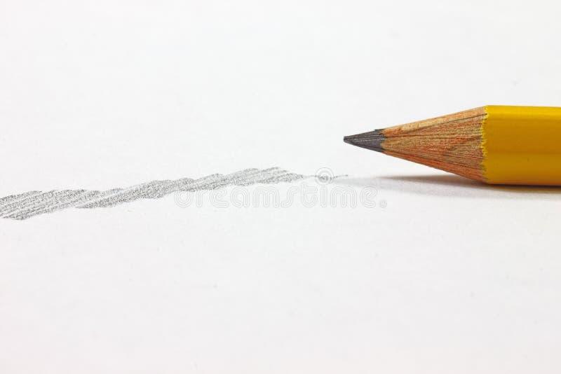 Bleistift mit Schattierung lizenzfreie stockfotos