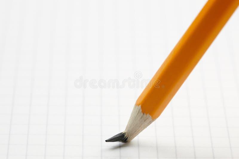 Bleistift mit Schnittpunkt lizenzfreies stockbild