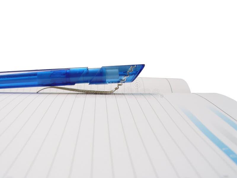 Bleistift u. Tagesordnung stockfotos