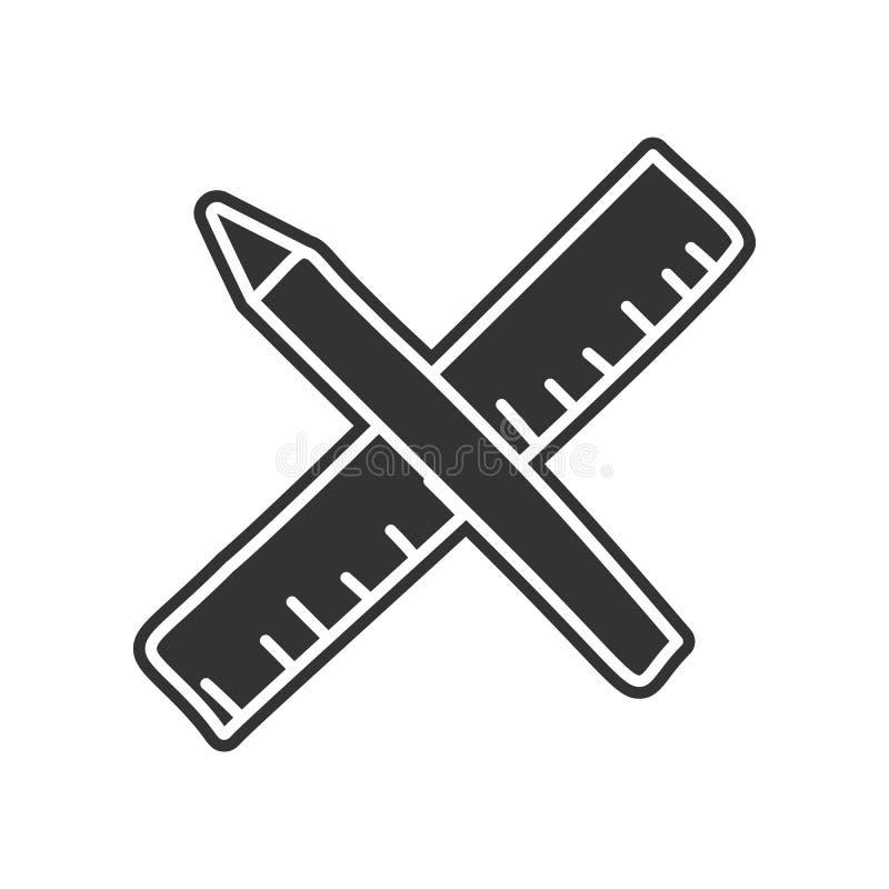 Bleistift- und Machthaberskizzenikone Element der Bildung für bewegliches Konzept und Netz apps Ikone Glyph, flache Ikone für Web stock abbildung