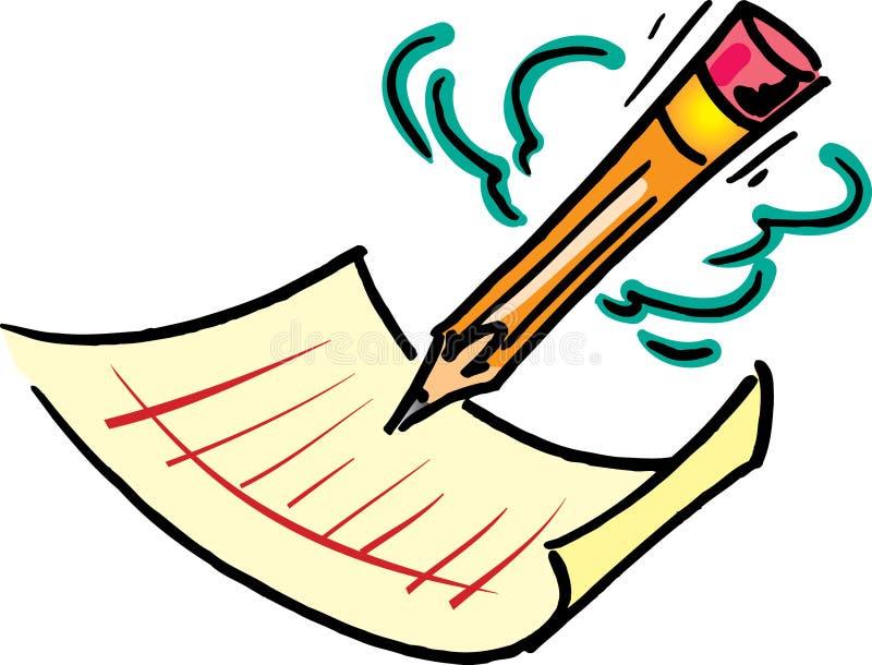 Bleistift und Papier vektor abbildung