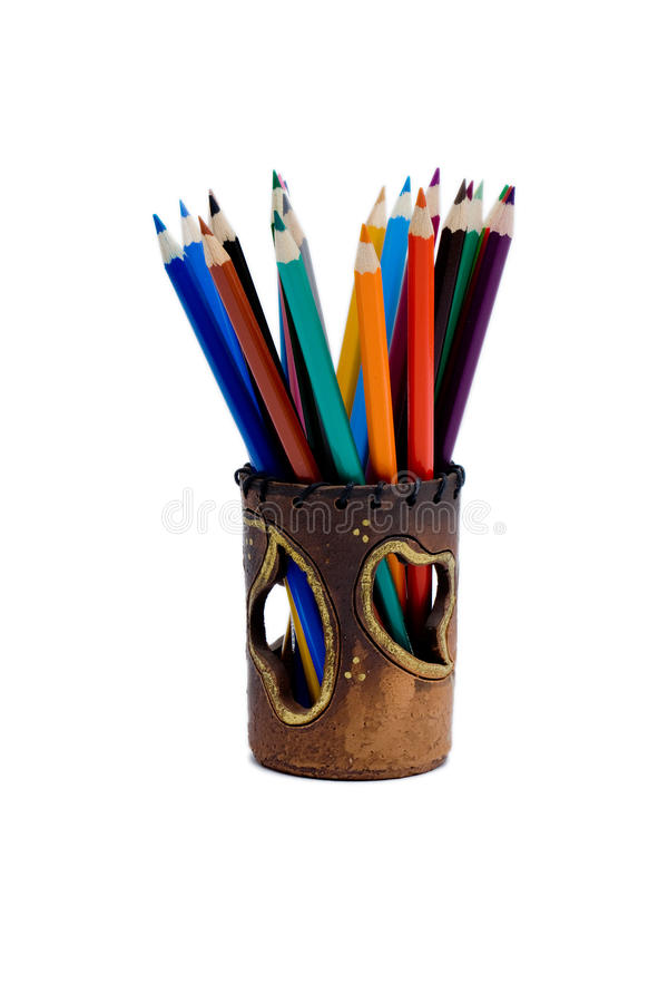 Bleistift und Pastell stockbilder