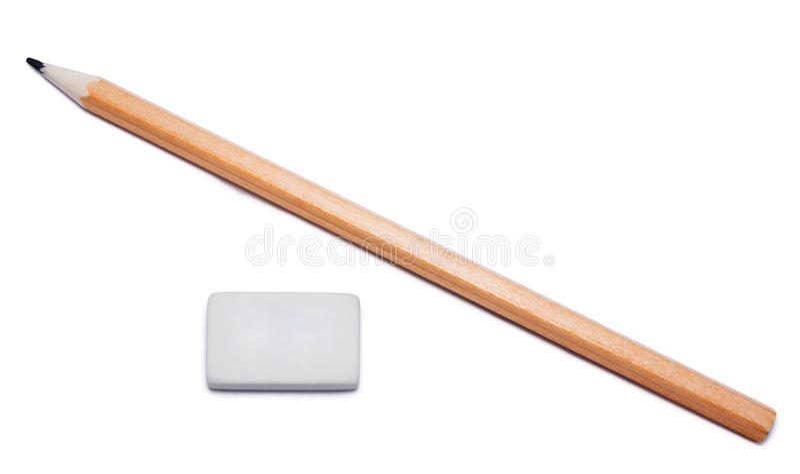 Bleistift- und Radiergummigummi stockfoto