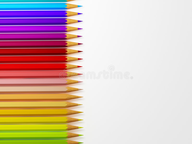 Bleistiftansammlung lizenzfreie stockfotos