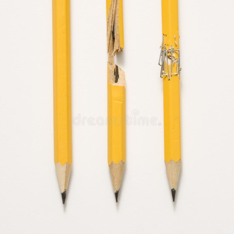 Bleistifte auf weißem Hintergrund. stockfotos