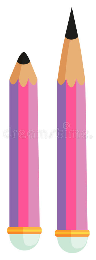 Bleistifte einer stumpf und das andere Scharfe vektor abbildung