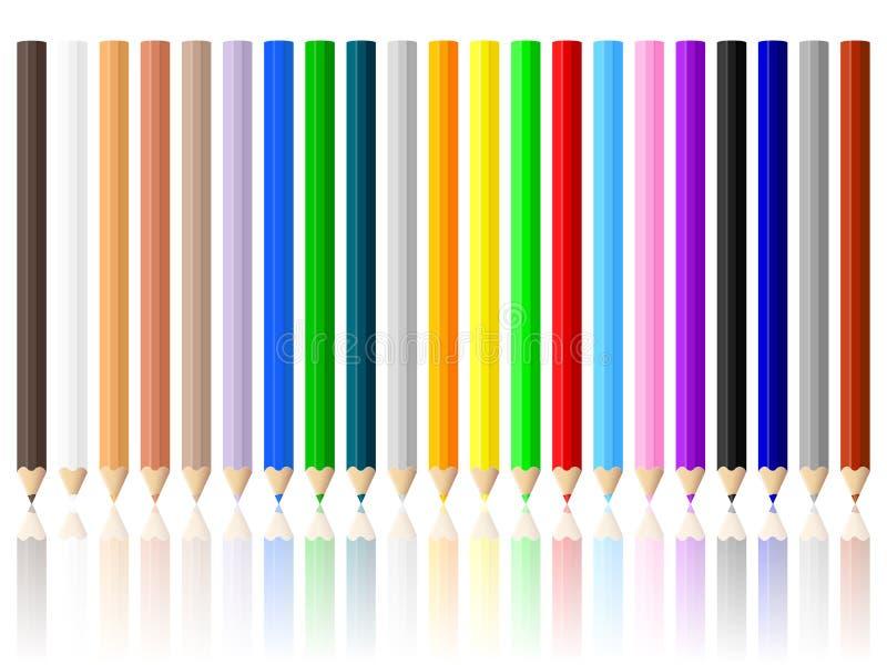 Download Bleistifte eingestellt vektor abbildung. Illustration von holz - 27725312