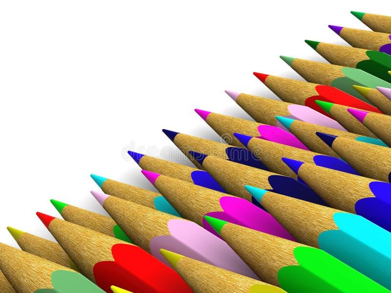 Bleistifte. Hintergrund. vektor abbildung