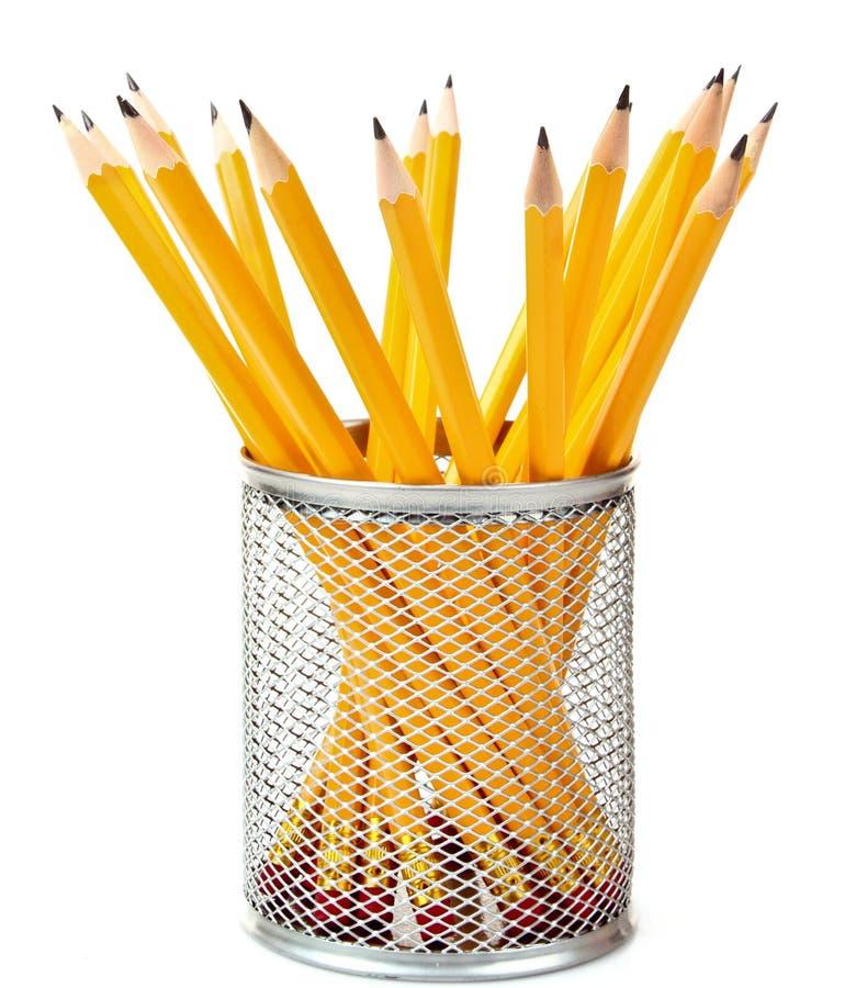 Bleistifte im Support trennten lizenzfreie stockfotos