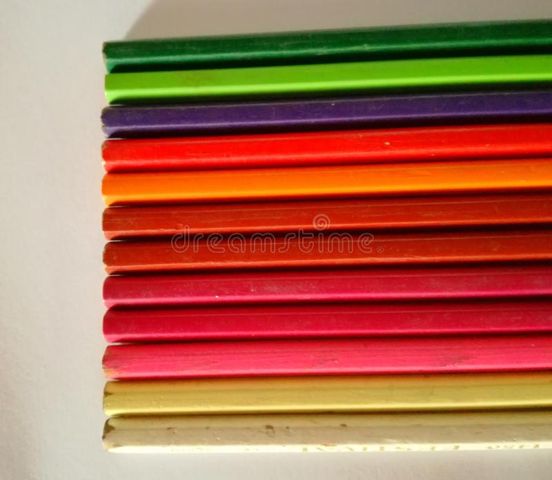 Bleistiftfarben lizenzfreies stockbild