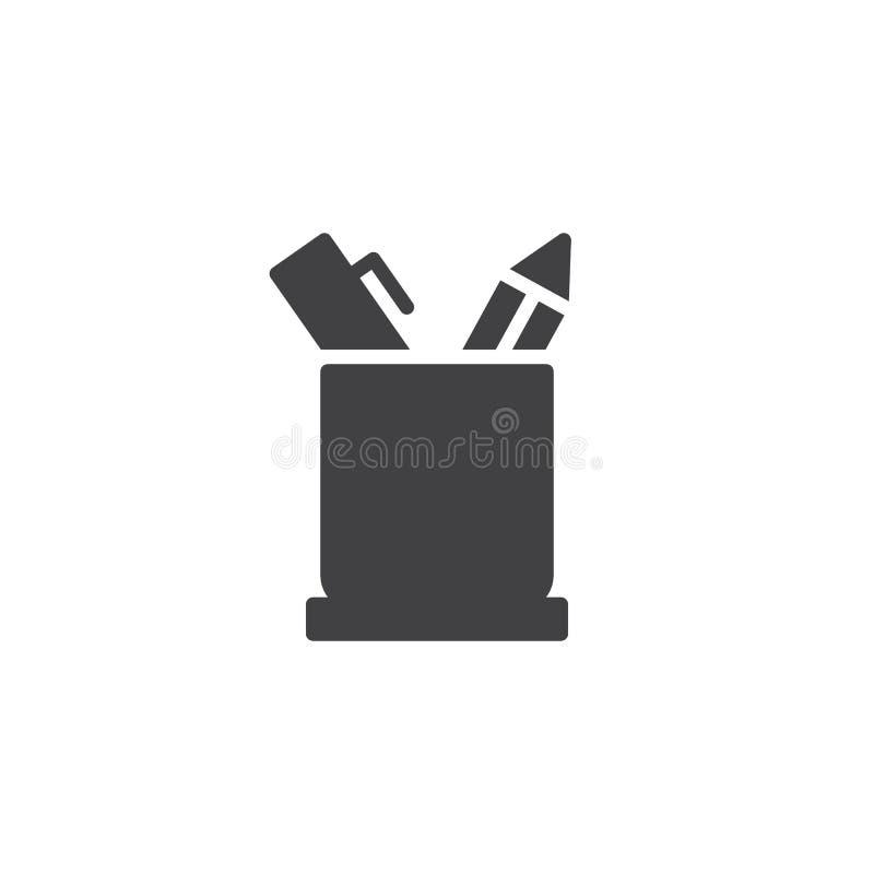 Bleistifthalter-Vektorikone lizenzfreie abbildung