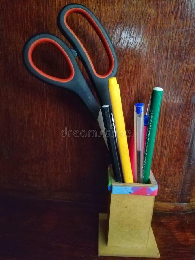 Bleistiftkasten stockfotos
