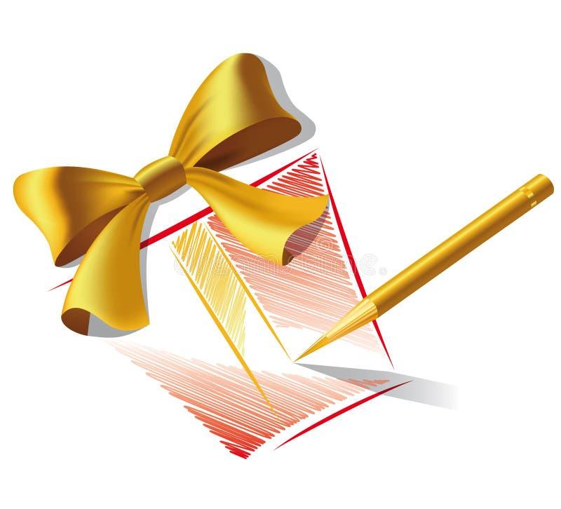 Bleistiftzeichnung eines Geschenks vektor abbildung