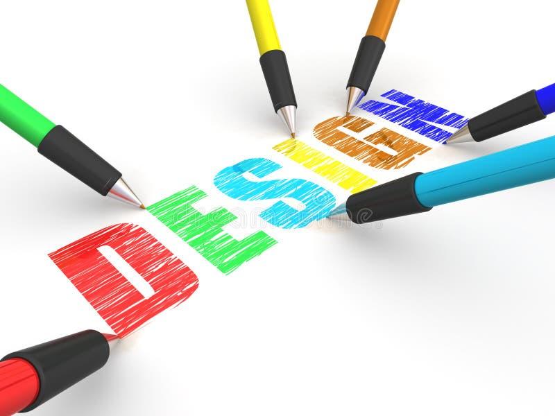 Bleistiftzeichnungsauslegung lizenzfreie abbildung